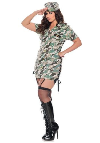 Plus Size Private Time Army Costume...right size and good price