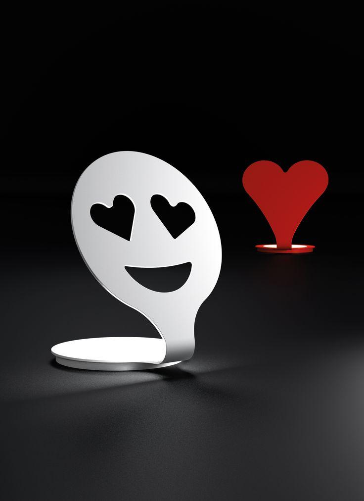 New led lamp! EMOTICON SMILE + HEART