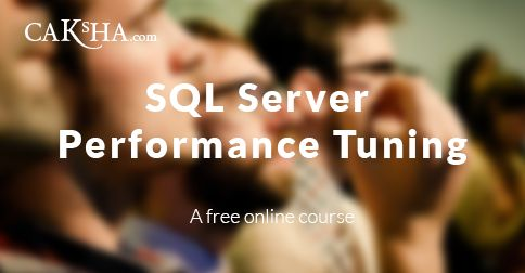 SQL Server backend performance plays a significant role in determining the overall performance of your application. In this course, we are going to learn about performance tuning of SQL Server. The performance tuning techniques mentioned in this course are valid for SQL Server 2012 and 2008.