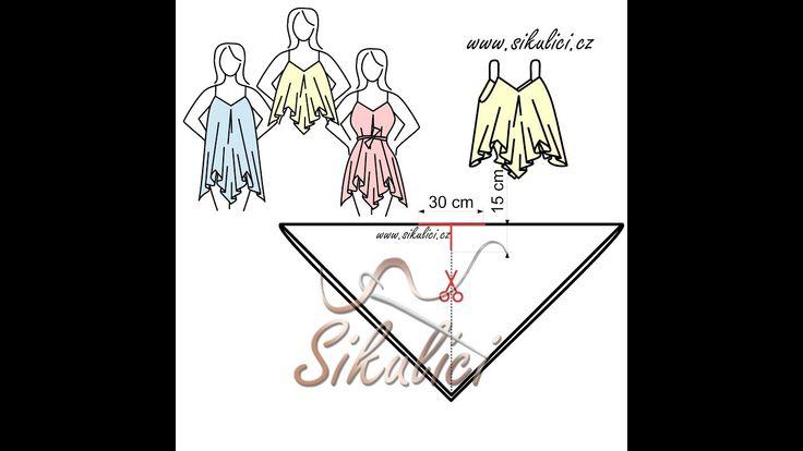 Tričko či šaty na ramínka z jednoho kusu - Šikulíci