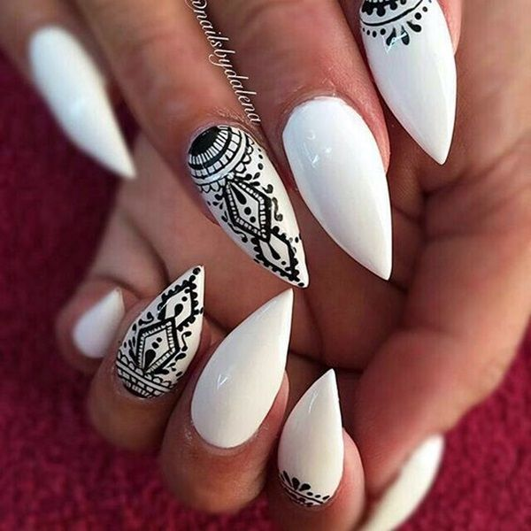 108 best love nails images on pinterest nail design gel nails black and white tribal nails prinsesfo Choice Image