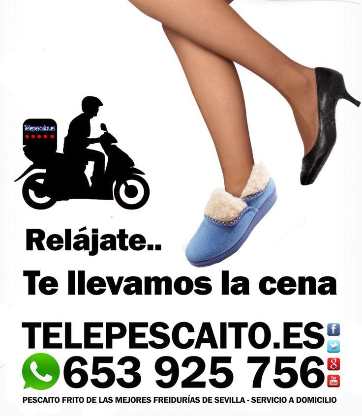 Relájate... Nosotros te llevamos la cena http://www.telepescaito.es #Pescaitofrito a domicilio de las mejores freidurias