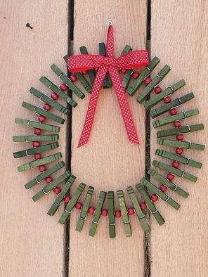 Christmas card holder/display Wreath by MillersMakings on Etsy