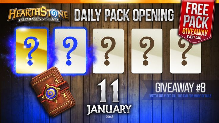 FREE Pack Giveaway #8 / 1 Golden Rare & 1 Rare Cards! Hearthstone Packs ...