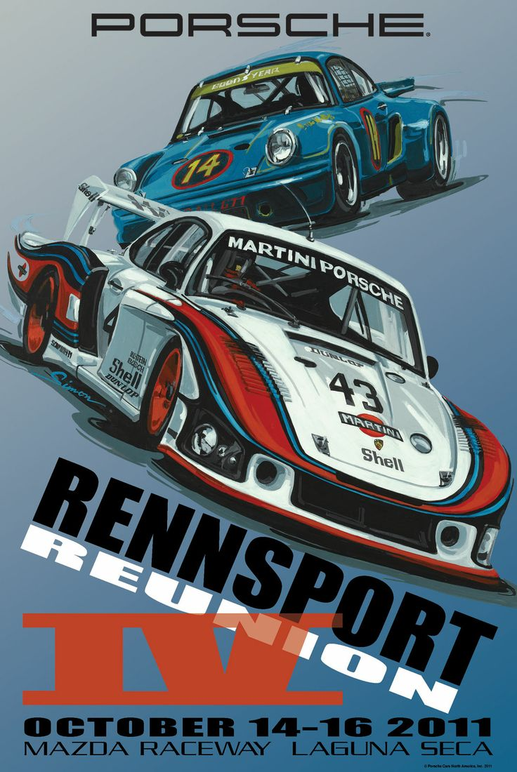 Rennsport IV historic Porsche poster is retro awesome ...