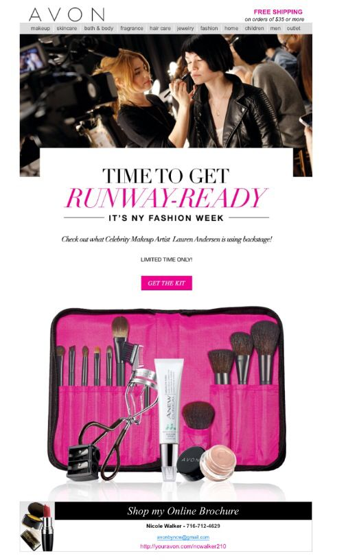 It's New York Fashion Week! Get Runway Ready with Avon!! Check out this amazing kit from celebrity makeup artist Lauren Anderson! Get yours at youravon.com/dawnyearicks