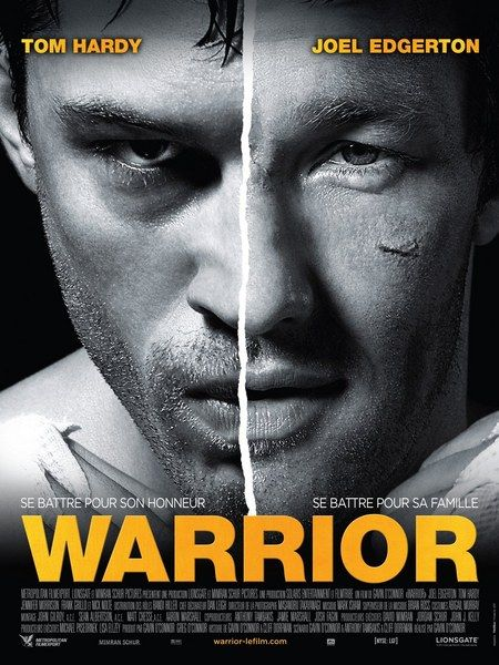 Warrior. This is a great movie!! Violent but great! The ending is my favorite part. And Tom Hardy is a great actor.