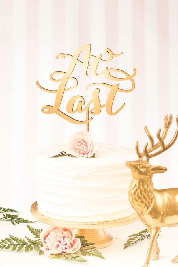At Last wedding cake topper
