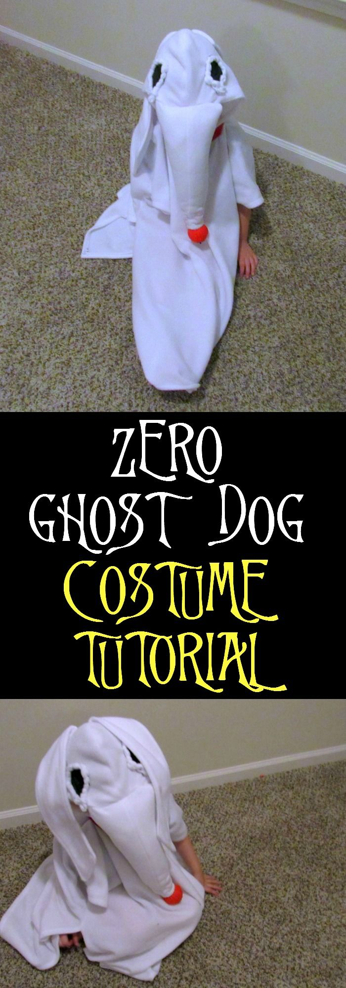 Zero Ghost Dog Costume Tutorial. Learn how to make your own Zero Ghost Dog Costume with simple tutorial. Makes a great halloween or cosplay costume.