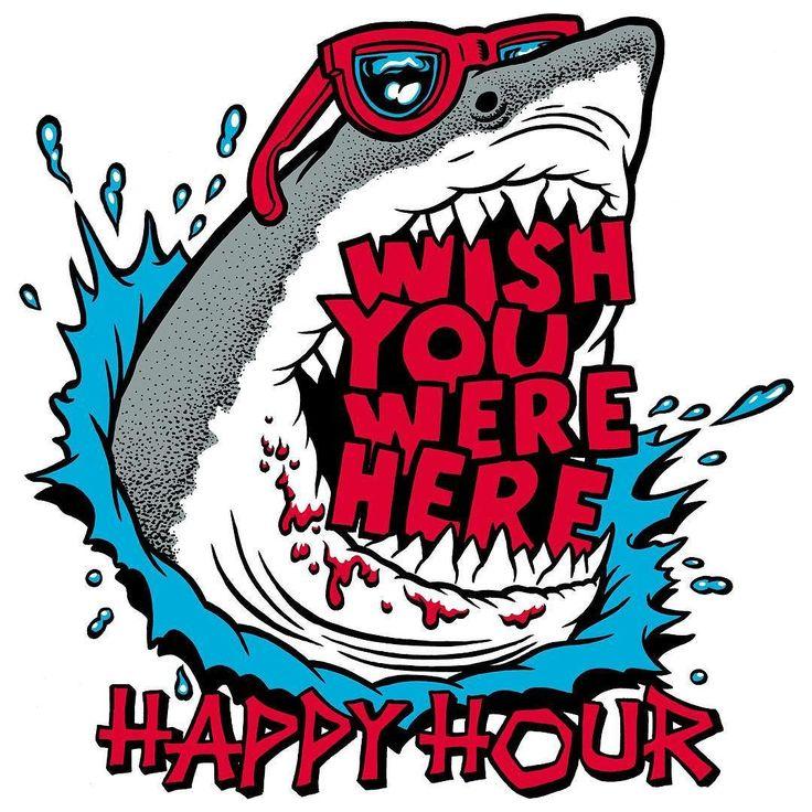 New graphics for @happyhourshades on the way! #happyhour #whatsyourhappyhour #shades #sunglasses #greatwhiteshark #shark #illustration #drawing #tshirt #graphic #art #artlife #beachlife #wishyouwerehere by brianromero