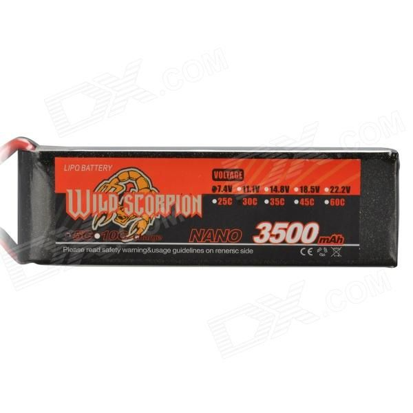 7.4V 3500mAh 30C Replacement Li-Poly Battery for RC Helicopter / Car / Boat + More - Black + Red. Color Black + Red Material Lithium polymer + plastic Quantity 1 Piece Compatible Models The RC helicopter / car / boat which its battery specification is 7.4V 3500mAh 30C. Battery Actual Capacity 3500 mAh Nominal Capacity 3500 mAh Battery Type Li-polymer battery Voltage 7.4 V Input Voltage Others,N/A V Output Voltage Others,N/A V Plug Specifications Others,N/A Other Features Replace the old and…