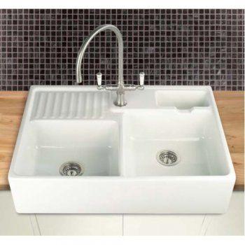 villeroy boch berlioz 80 double bowl 895mm x 600mm apron fronted ceramic kitchen sink ber80. beautiful ideas. Home Design Ideas