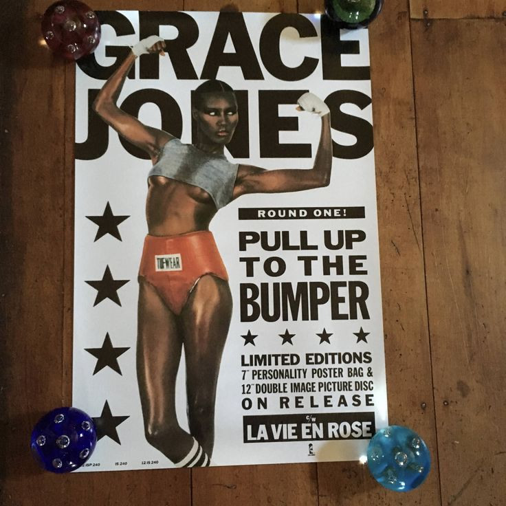Grace Jones Pull Up To The Bumper 1985 Island Records Original Rare Vintage Music Poster by RockPostersTreasures on Etsy