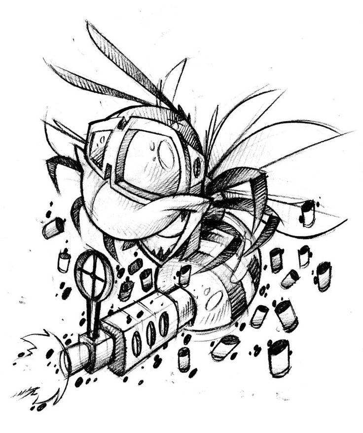 41 Best Tattoo Art Cartoon Weapons Images