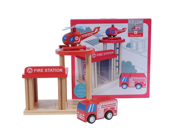 Designer boys gifts online - Tiger Tribe - Kit Pax - Fire Station - $29.95 - Portable, compact and guaranteed to provide hours of entertainment - just the way all kids toys should be!  Tiger Tribe Fire Station Kit Pax set will delight!  All pieces are stackable and interchangeable, using a unique connecting system. Designer boys gifts online - Tiger Tribe