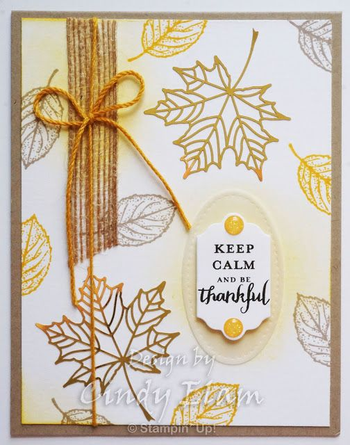 This alternate to the Layered Leaves Paper Pumpkin kit was so quick and easy! Remember that leaf from yesterday's card? Here it was stamp...
