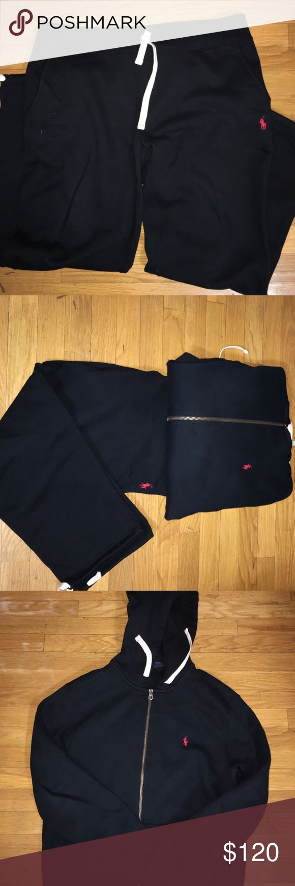 Polo Ralph Lauren Sweatsuit Sweatpants and Jacket Set/ Top Sz XL Bottom Sz L Polo by Ralph Lauren Shirts Sweatshirts & Hoodies