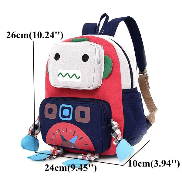 Creative Robot Shape Cute Backpack Children Kids School Bag Outdoor Bag Online - NewChic