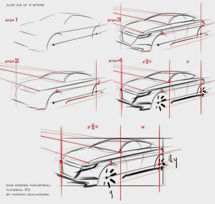 Car sketch tutorial by Marcin | Car Design Education tips