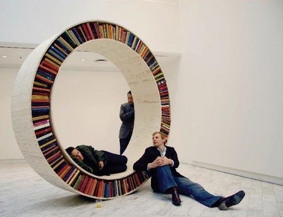 Dit is pas een boekenkast!