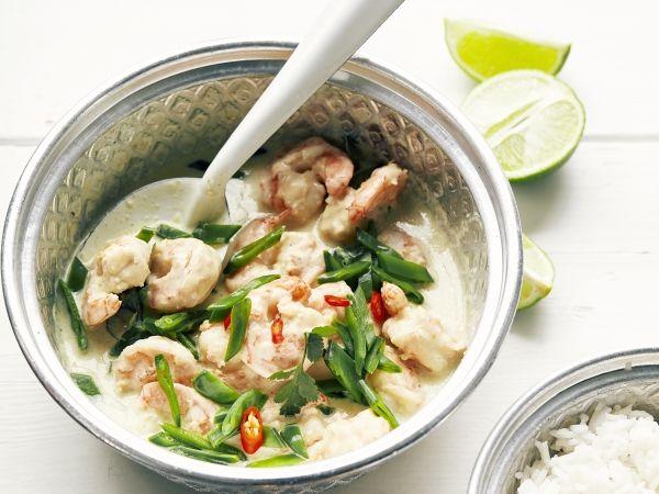 Pittige Thaise curry met scampi's (Libelle Lekker!)