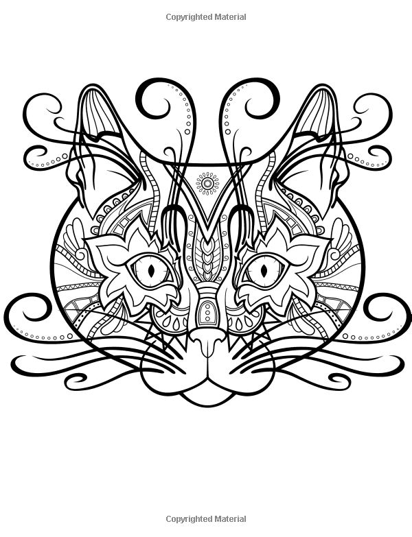 Colorful Cats 2 Coloring Books For Adults Featuring Over 30 Best Stress Relieving Designs