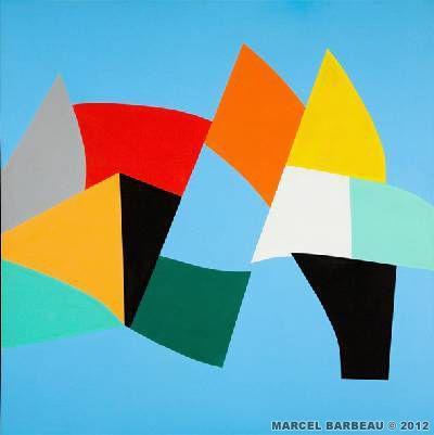 Marcel Barbeau - Juillet tranché dans le fruit : Acrylique sur toile de lin - 2007
