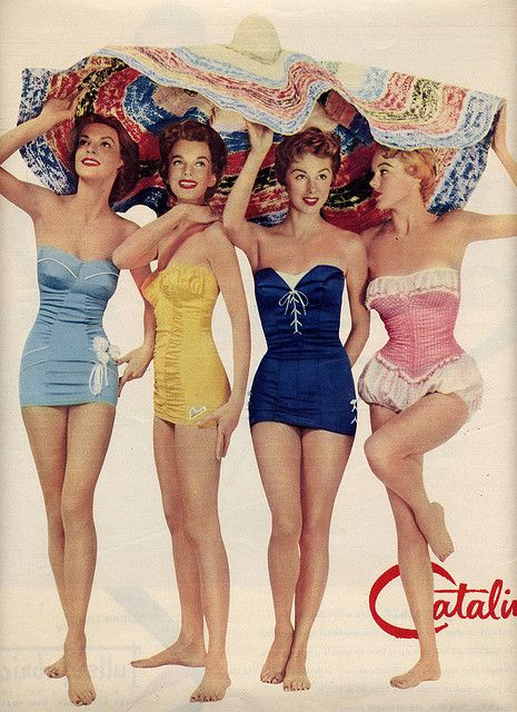 kinda obsessed with vintage one piece bathing suits at the moment.