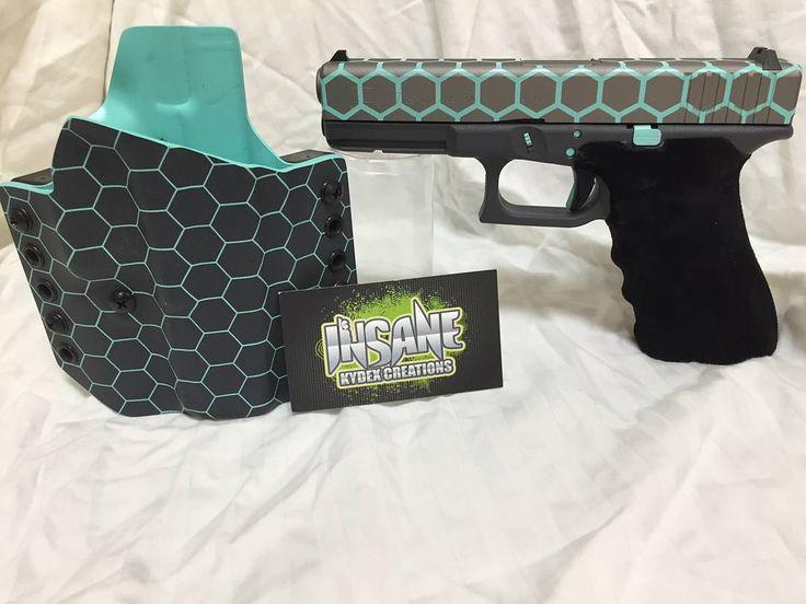 Beautiful custom glock and Insane Kydex Holster