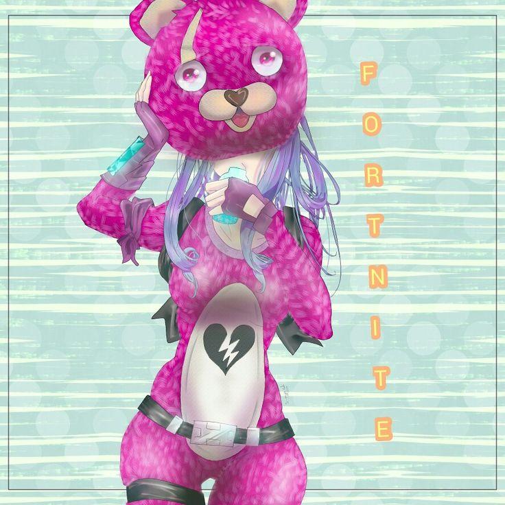 Iphone 5 Fitness Wallpaper Fanart Pink Teddy Bear Fortnite Anime Art Fan Art