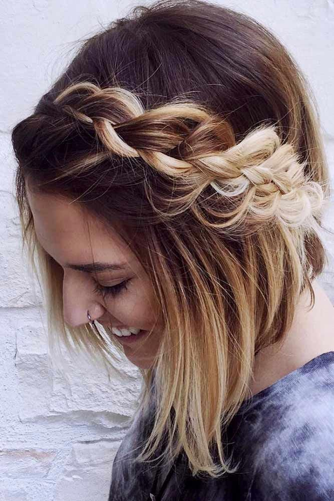 Braided Shoulder Lenght Hairstyle Shoulder Length Hairstyles Are Hairstyles That Are Done On Shoulder L Shoulder Lenght Hairstyles Hair Styles Easy Hairstyles