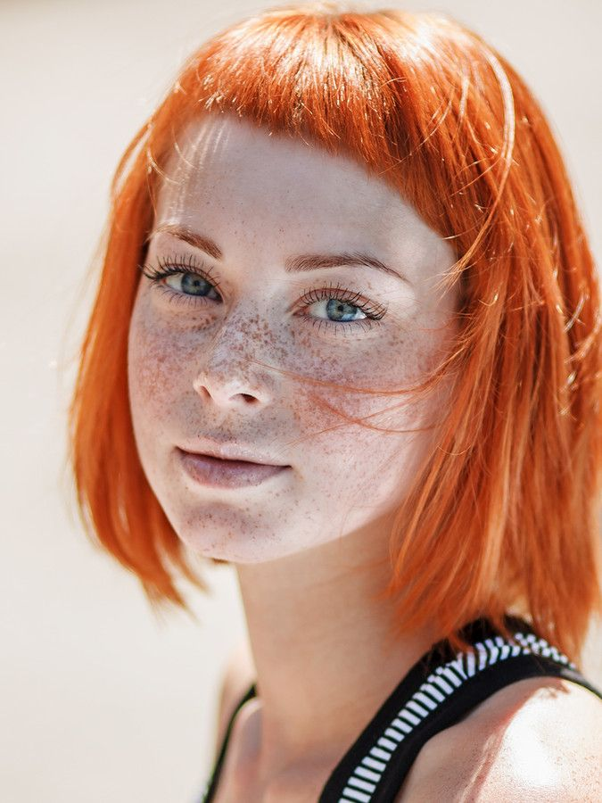 redhead freckles Beautiful girls with