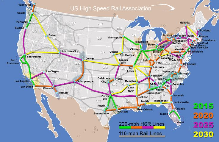 (Wannabe) US High Speed Rail Map. Hopefully it works out!