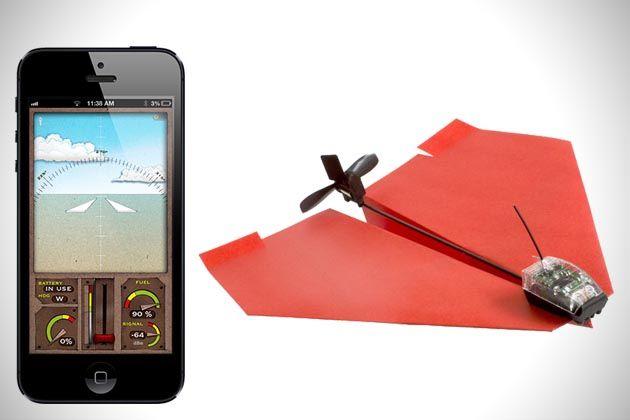 Samolot papierowy sterowany smartfonem  #zdalniesterowane #modelerc