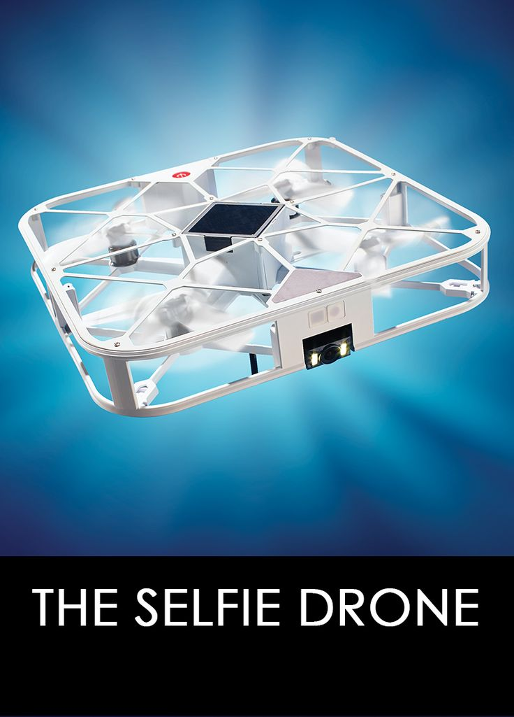 The Selfie Drone is the smartphone-controlled drone that captures and shares stunning first-person photos and video without a clumsy selfie stick. Ideal for novice flyers, the drone can take off and land from your hand and features a 98' range, obstacle avoidance, and optical flow for stable flight that creates a hovering tripod.
