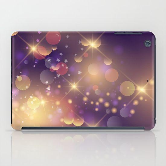 Festive Sparkles in Purple iPad Case