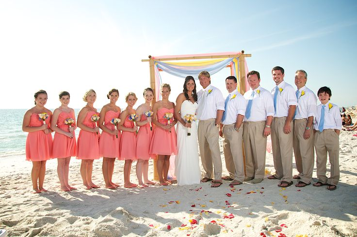 peach #coral beach wedding dress | Beach Wedding Canopies ...