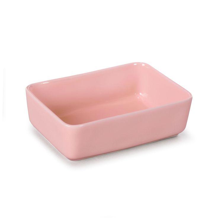 Plat rectangulaire en grès rose 23cm Prado - Pour la cuisson - Alinea