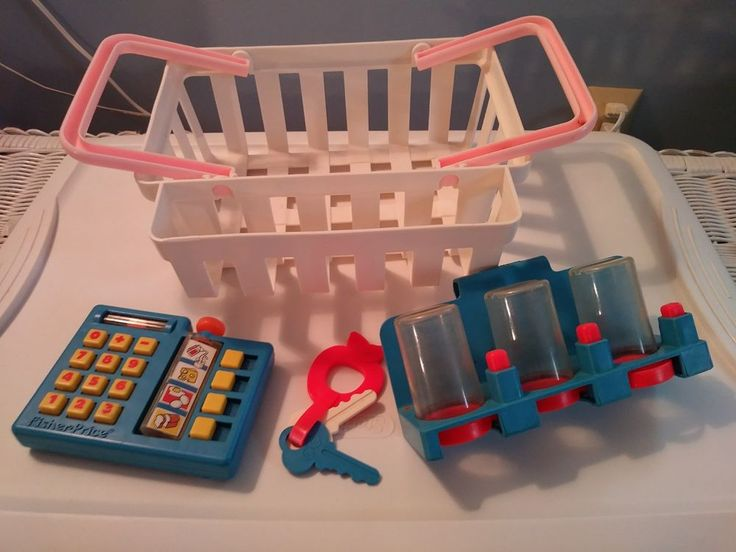 Fisher Price Fun with Food SUPERMARKET LOT Basket KEYS COIN CHANGER Calculator  | eBay