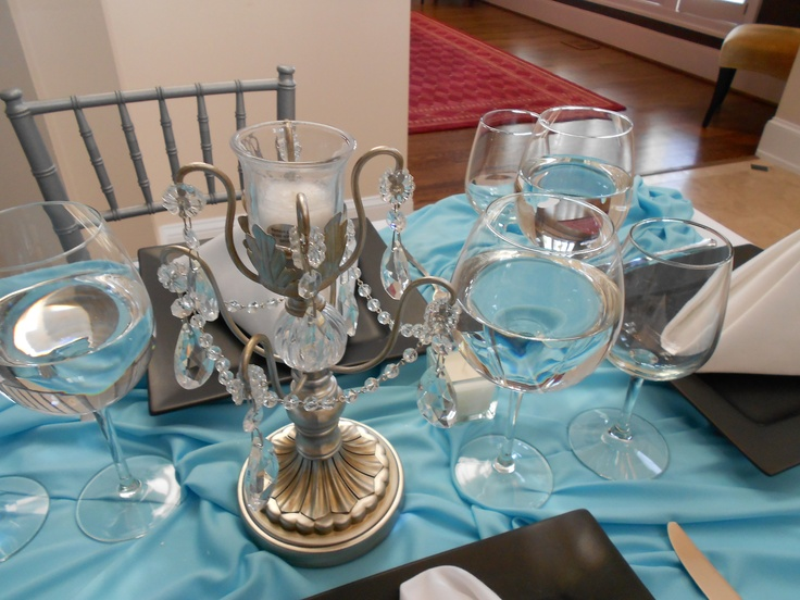 Breakfast at Tiffany centerpiece