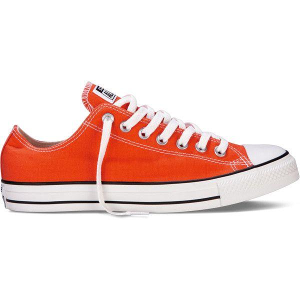 orange converse low tops
