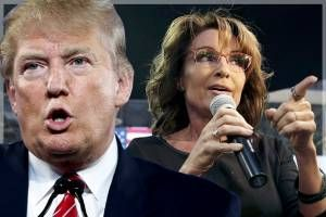 A marriage made in wingnut heaven: Donald Trump makes an even harder play for the Sarah Palin vote