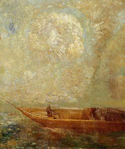 """""""Le char d Apollon"""", huile sur toile de Odilon Redon (1841-1916, France)"""