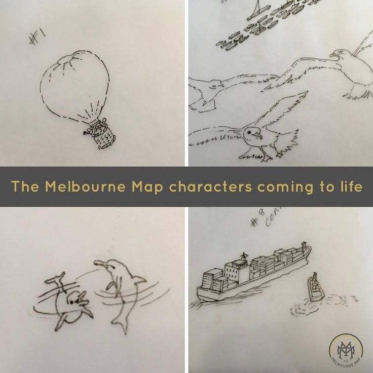 The Melbourne Map characters coming to life