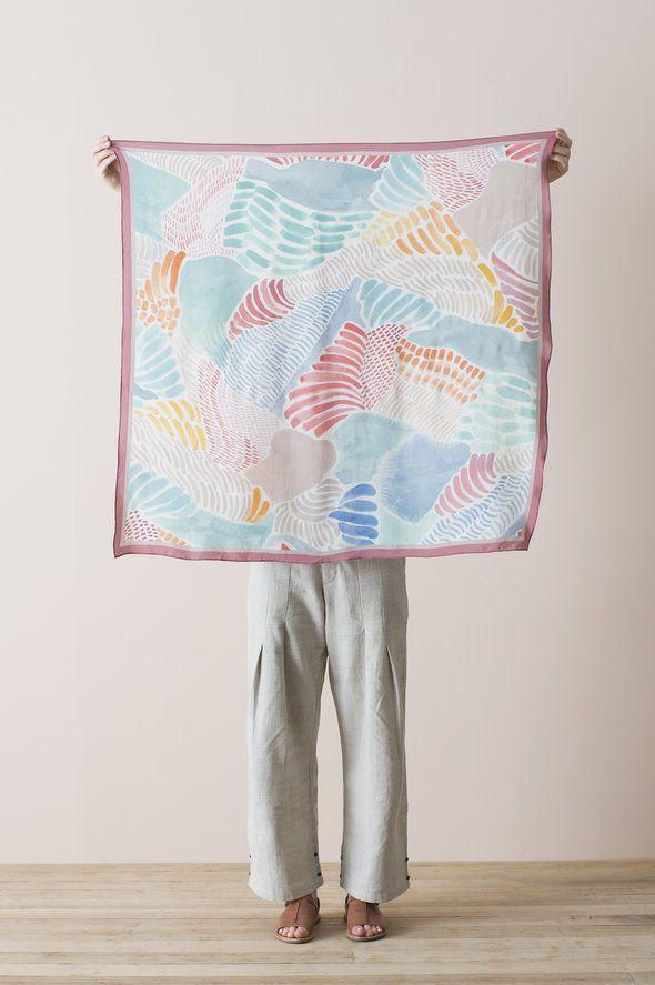 Silk Square Scarf - Painterly - Nancybird