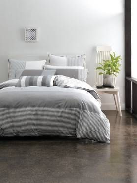 Single Rudy Quilt Cover Sets Grey Quilt Covers Online