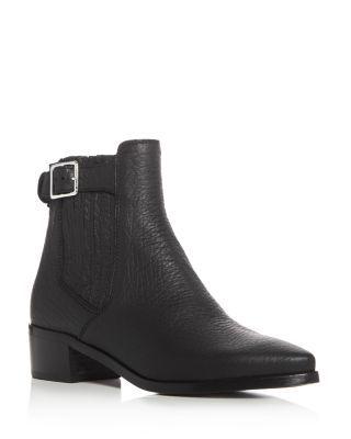 Belstaff Albaz Pointed Toe Mid Heel Booties | Bloomingdale's