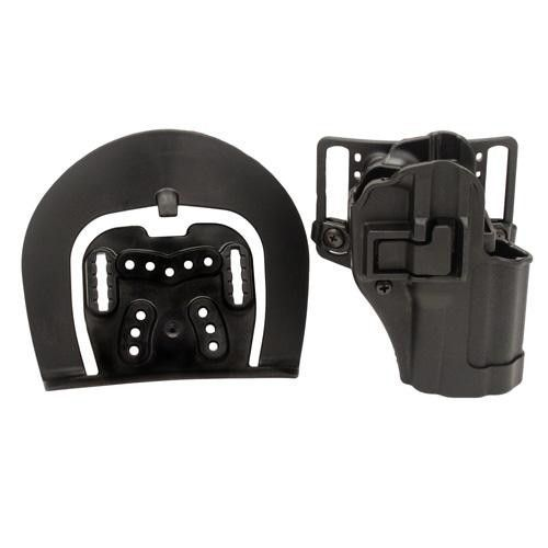 Serpa CQC, Belt & Paddle Holster, Plain Matte Black Finish - Springfield XD Compact, Right Hand