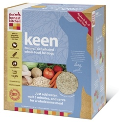 Best food! It's really inexpensive for natural dog food, and my dogs LOVE it. Since I do not like giving them only soft food, I mix this with some solid kibble.   The Honest Kitchen Keen Dehydrated Dog Food