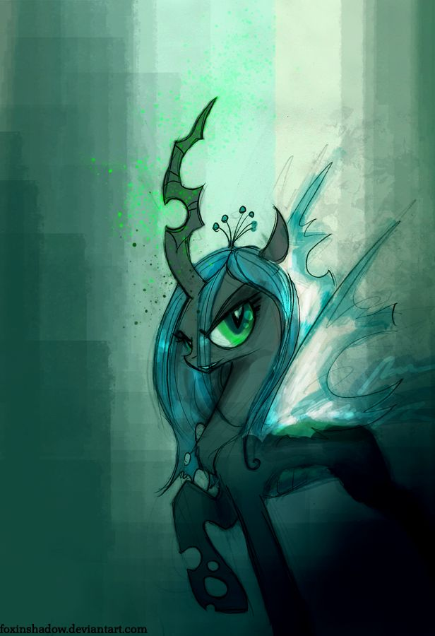 Queen Chrysalis.Cute but cra-zy..